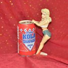 ART DECO STYLE DEMARS GANZ SEXY GIRL LADY SODA CAN HOLDER