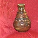 "Antique Large Rare Ornate Solid Vase 10"" X 6"""