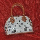 Playboy Bunnies White and Brown Purse