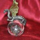 "Dragon Sitting on Crystal Ball Statue Figurine Figure 6"""