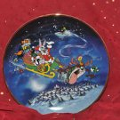 What's up Santa?  Limited Edition Franklin Mint plate
