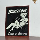 Burlesque Metal sign 12'' by 10'' Contemporary, Man Cave and Multi-Color