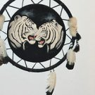 BEAUTIFUL WILD WHITE TIGERS NATIVE AMERICAN STYLE WOLF DREAM CATCHER