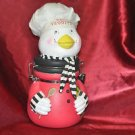 "Eat Veggies Chicken Chef 12"" container with latch"