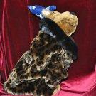 Dog Leopard print coat faux fur Brown Medium M, Petites Unisex Children