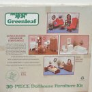 Greenleaf 30 Piece Wooden Dollhouse Furniture Kit New in Box Sealed