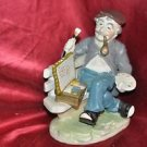 "ART CERAMIC STATUE ""THE ARTIST"" VERY DETAILED ART WORK 8"" Tall X 5"" Long"