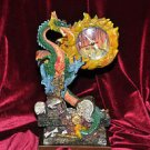 Tall Fire Breathing Dragon Figurine Clock Figurine 9 1/2''Tall Treasure Chest