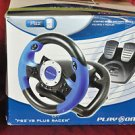 PLAY ON V8 RACING U8 PLUS RACER STEERING WHEEL PS2