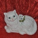Decorative Porcelain Cat Home Decor 7''Tall by 9''Long Mixed Materials and