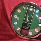 "Hanging Wall Billiards Clock Pool Quartz 11"""