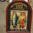 Wooden Plaque International Game Fish Association All Tackle Record 3-D