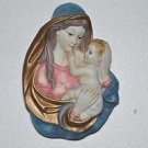 Unique Work Virgin Mary With Baby Jesus Detailed Ceramic Figure Wall Hanging