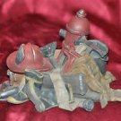 Firemans Rescue Equipment Hat Jacket Axe Hose Boots Jaws of Death  Man Cave