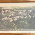 Lyndonville, Vermont B & M Railroad Shops Framed Painting