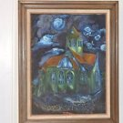 """Van Gogh's Church in Auvers Reproduction by Papou 29.5"""" X 24"""" Framed Painting"""
