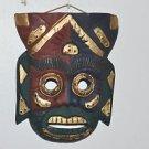 "Mask Tiki Festive Multi colored wall decor man cave 9.5"" X 7"""
