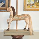 Carousel Horse Wooden Hand Carved 20''Tall, 15''long, Mixed Materials
