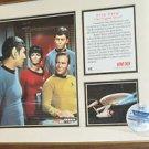 """STAR TREK ORIGINAL SERIES Commemorative Matted 15"""" X 12"""""""