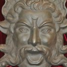 Poseidon, Gods of the Water and Sea Face Cast Iron Wall Mount Decor 10.5 pounds
