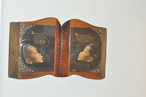 "Revelation 21:4 Wall Decor Plaque Children of God Shaped like a Book 17.5""X 10"""
