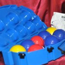 Sportcraft BOCCE BALL Set Complete w/Wire Carrying Rack Nice Set- Rules include