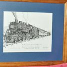B&M CommuterTrain Class K-7 lithograph signed James Pansono Framed & Matted