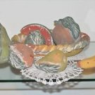 Ceramic Art Pottery Fruit Bowl Basket Vintage Hand Made Life Size