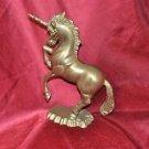 "Vintage Solid Brass Unicorn 9.5"""
