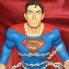"VINTAGE SUPERMAN BREAKING OUT OF CHAINS 8"" SEANIC COIN / PIGGY BANK"