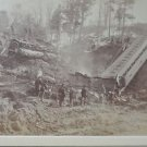 Matted Framed Photo of Train Wreck on Rutland,IT Railroad April 13,1880 Part 3