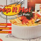 "THE ORIGINAL ""KEEP IT HOT"" MICROWAVEABLE HOT PLATE Bacon Tray/Rack, Multi-Color"
