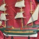 "Wooden Ship 1/72 Golden Hind 1578 Sailing Ship 20"" X 18"" X 3.5"""