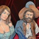 PIRATES COUPLE BUST NAUTICAL HOME DECOR