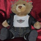 "Harley Davidson 100th Anniversary Biker Open Road Teddy Bear 14"" X 10"""