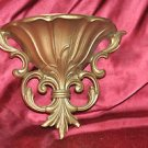 """Golden Tone Sconce Wall Plant holder Bric a Brak Wall Hanging Decor 8"""" X 7.5"""""""