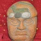 Vintage Sculpted Pottery Clay Male Bust Head Detailed Unique Handmade Display