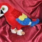 Fiesta Macaw Parrot Plush Red Blue Scarlet Bird Soft Toy Stuffed 20 in.