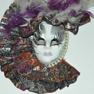 Porcelain Mardi Gras Wall Face Decor