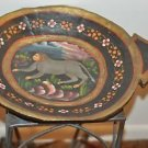 "Hand Painted Monkey Crawling Wooden Bowl - Primitives 18"" X 13"" 2"""