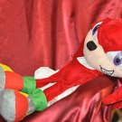 """Toy Network Sonic Hedgehog Knuckles Character Toy Red White Floppy Plush 20"""""""