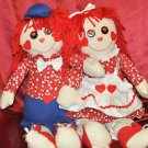 RARE VINTAGE RAGGEDY ANN & ANDY DOLLS SINGING 'I GOT YOU BABE'