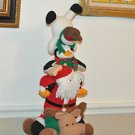 Christmas Decor A Reindeer,Santa Claus,Pinguine and Snowmen 24''tall Multi-Color