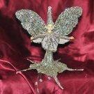 Golden Sparkle Fairy Figurine Faery Figure Faerie Statue Hanging Figurine