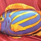 "Rainbow Colored Fish Plush Large 18"" Stuffed Animal Toy Red Purple Orange Green"