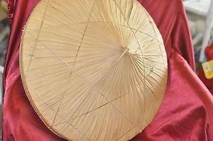 """Oriental Straw Cone Garden Fishing Sun Rice BAMBOO HAT Vietnamese Chinese 23.5"""""""