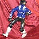 """KAWASAKI 18"""" RACING RIDER MOTORCYCLE RACER PILOT FIGURINE"""