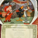 Collector Plate Looney Tunes Plate Rabbit Seasoning Multi-Color Mixed Materials