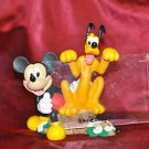 Walt Disney Mickey and Goofy Sitting on a Tree Stump Picture frame