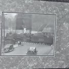 "Matted Framed Photo of Box Car Train Crossing from Early 1900 16.5"" 12.5"""